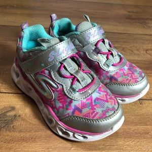 Skechers Toddler Girls Heart Lights Sneakers